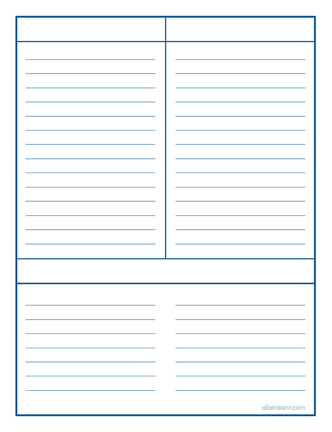 photo about Free Printable Journal Pages Lined known as Coated A few Class Listing :: Geared up Household Free of charge Printable