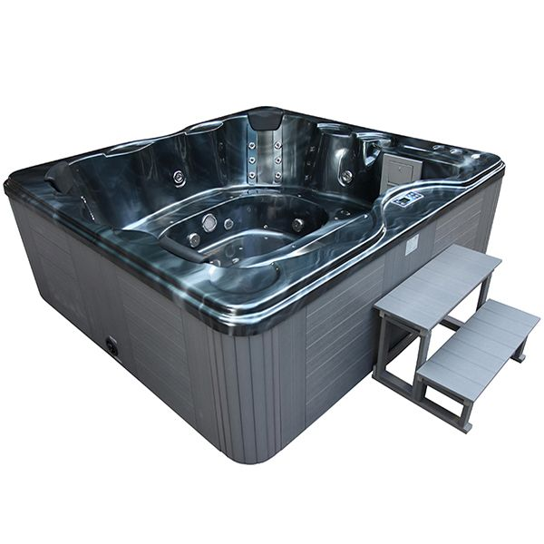 Spa Cuba 6 Places Cuve Grise Systeme Balboa Station D Iphone Integre 220x210x80cm Spa Sauna Balneo