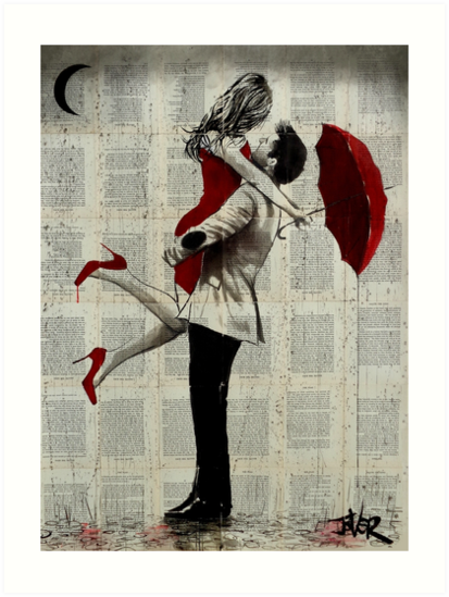 'it rained' Art Print by Loui  Jover