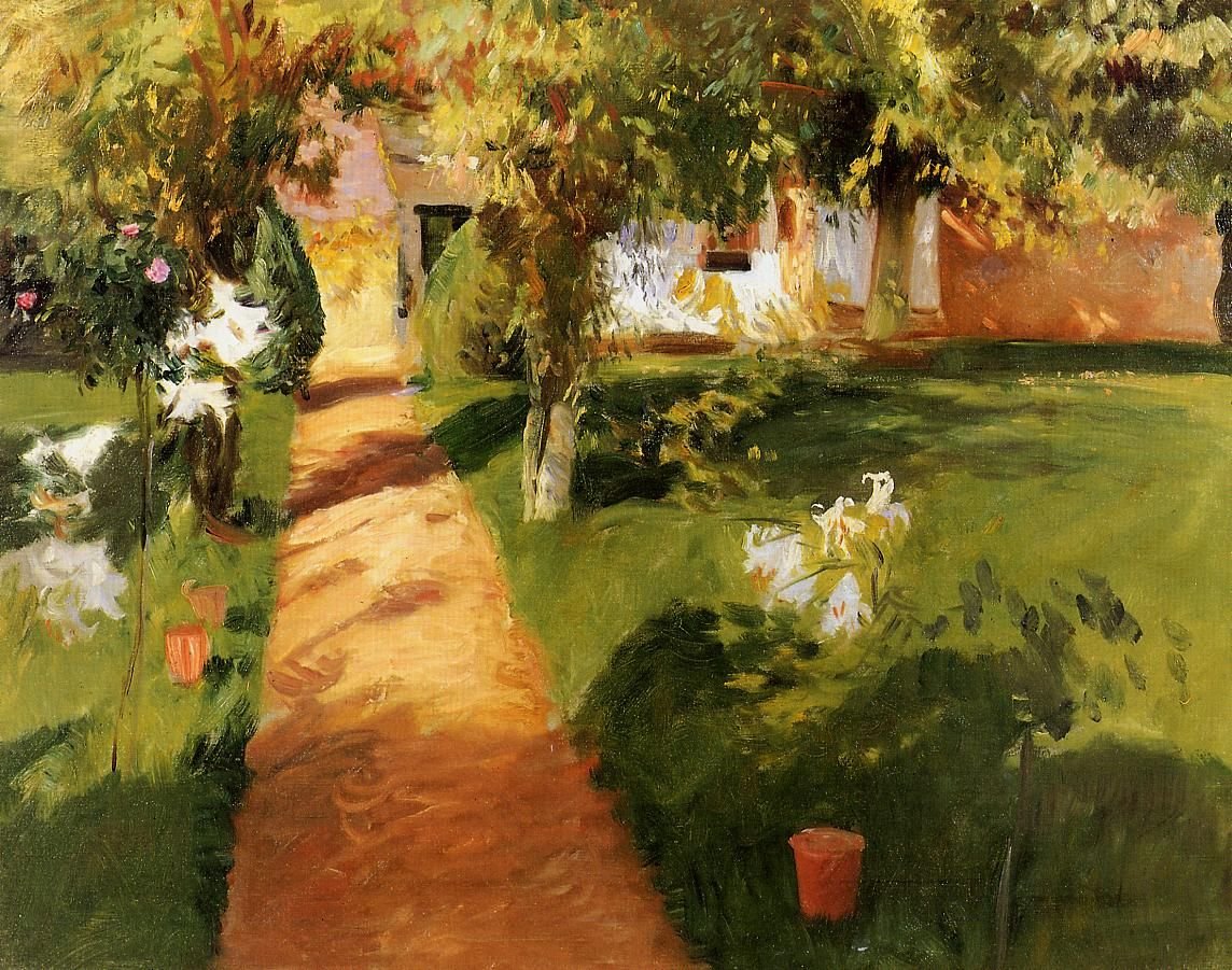 At Frascati   by John Singer Sargent Paper Print Repro