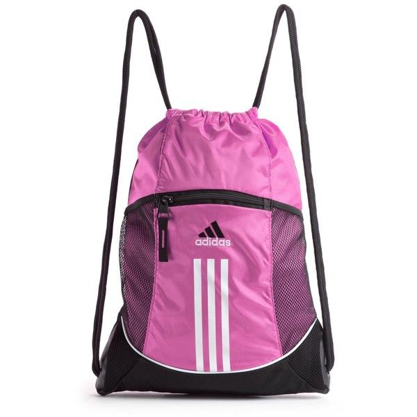 9fa1825a4 Adidas Gym Bag, Alliance Sport Sackpack ($16) ❤ liked on Polyvore featuring  bags, accessories, bolsas, drawstring bag, gym bag, sport bag, adidas and  sport ...