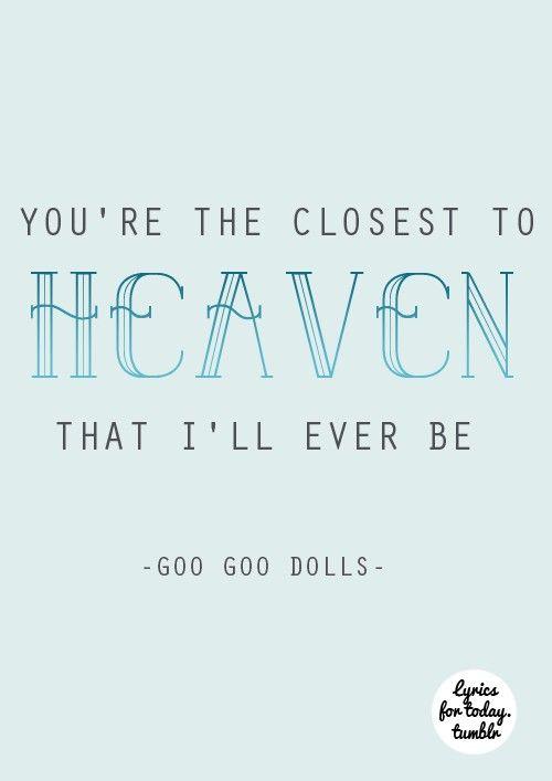 Goo dolls real lyrics
