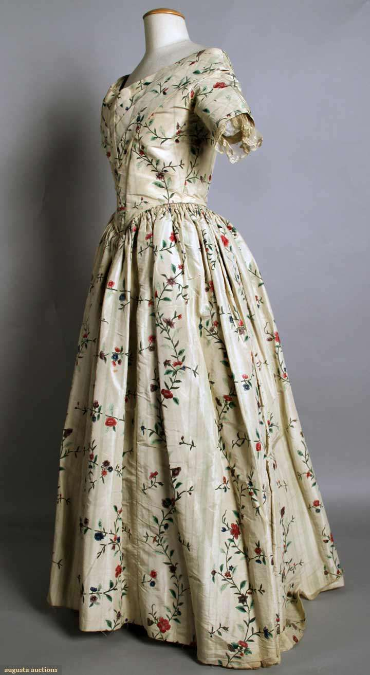 Painted silk evening gown s augusta auctions november