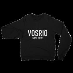 VOSRIO New York Logo Black raglan sweater