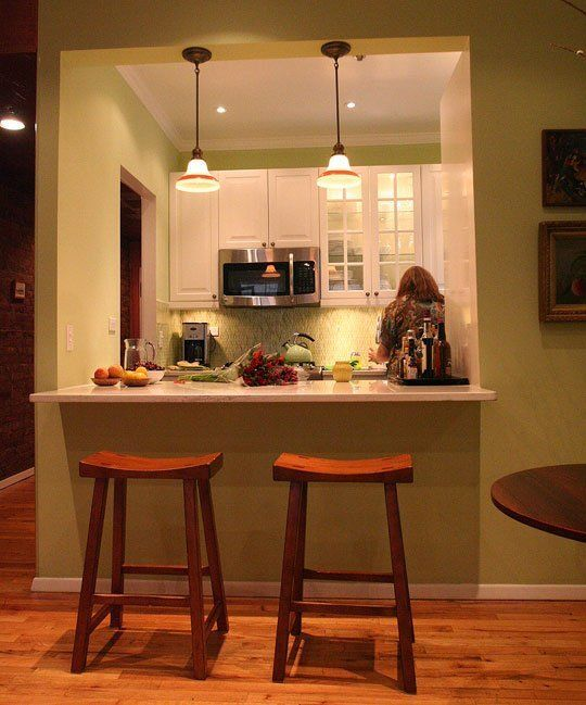Kitchen Remodel With Dining Room Addition: Laura's Cool Green City Kitchen