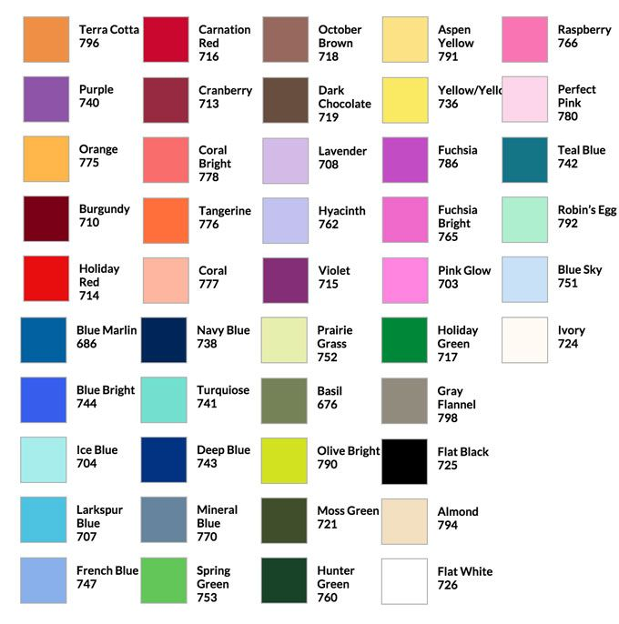 Design Master Floral Spray Paint Color Chart Garden Pinterest