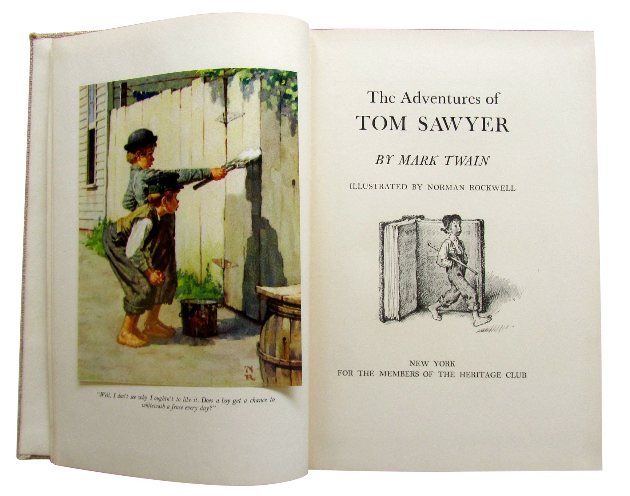 Two Books: The Adventures of Tom Sawyer & Huckleberry Finn Written by Mark Twain (1835-1910) and illustrated by Norman Rockwell (1894-1978)