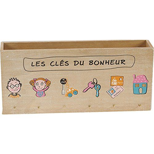 Porte Lettres Mural (Range Courrier) - Porte Clés - En Bois | Avec