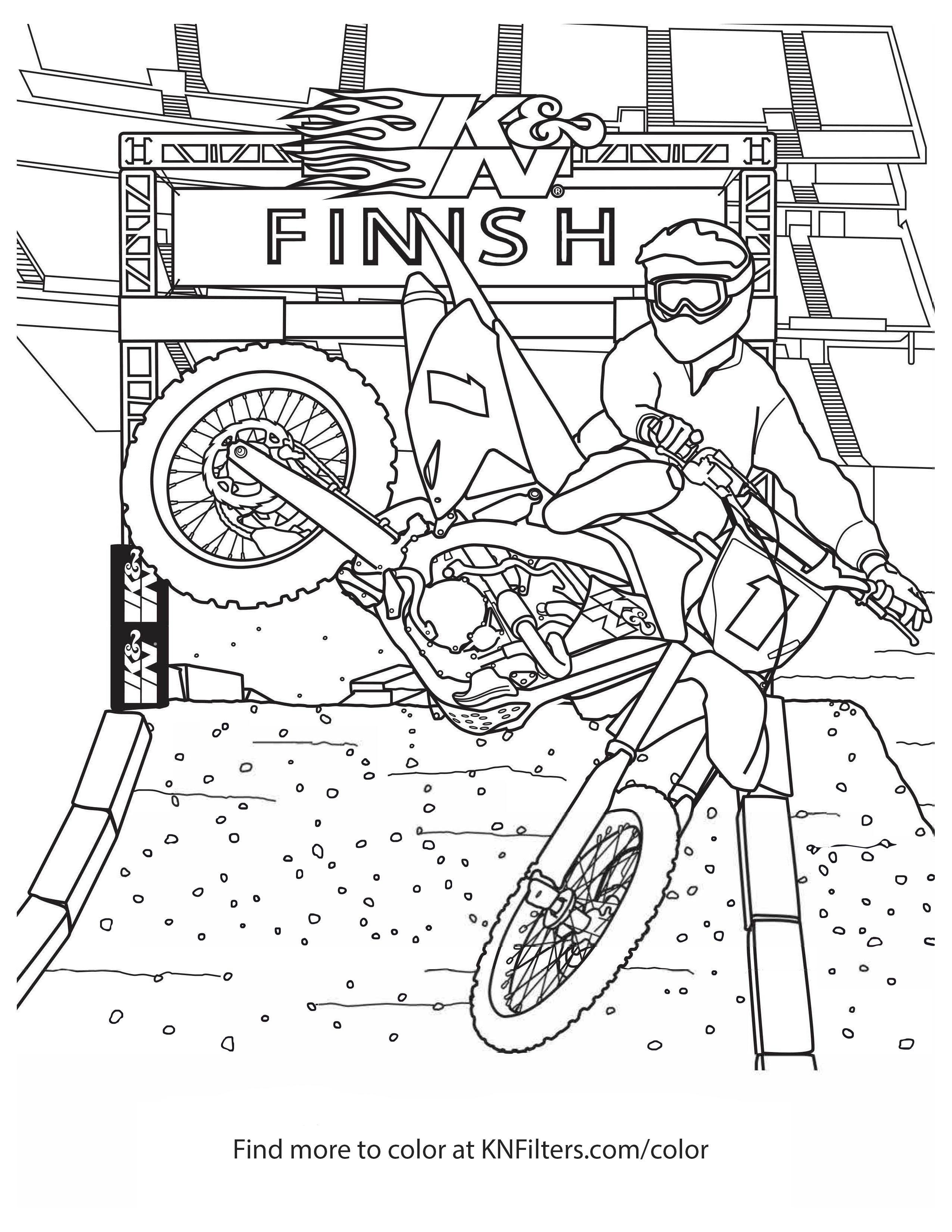 Dirt Bike Coloring Pages Inspirational Coloring Printable