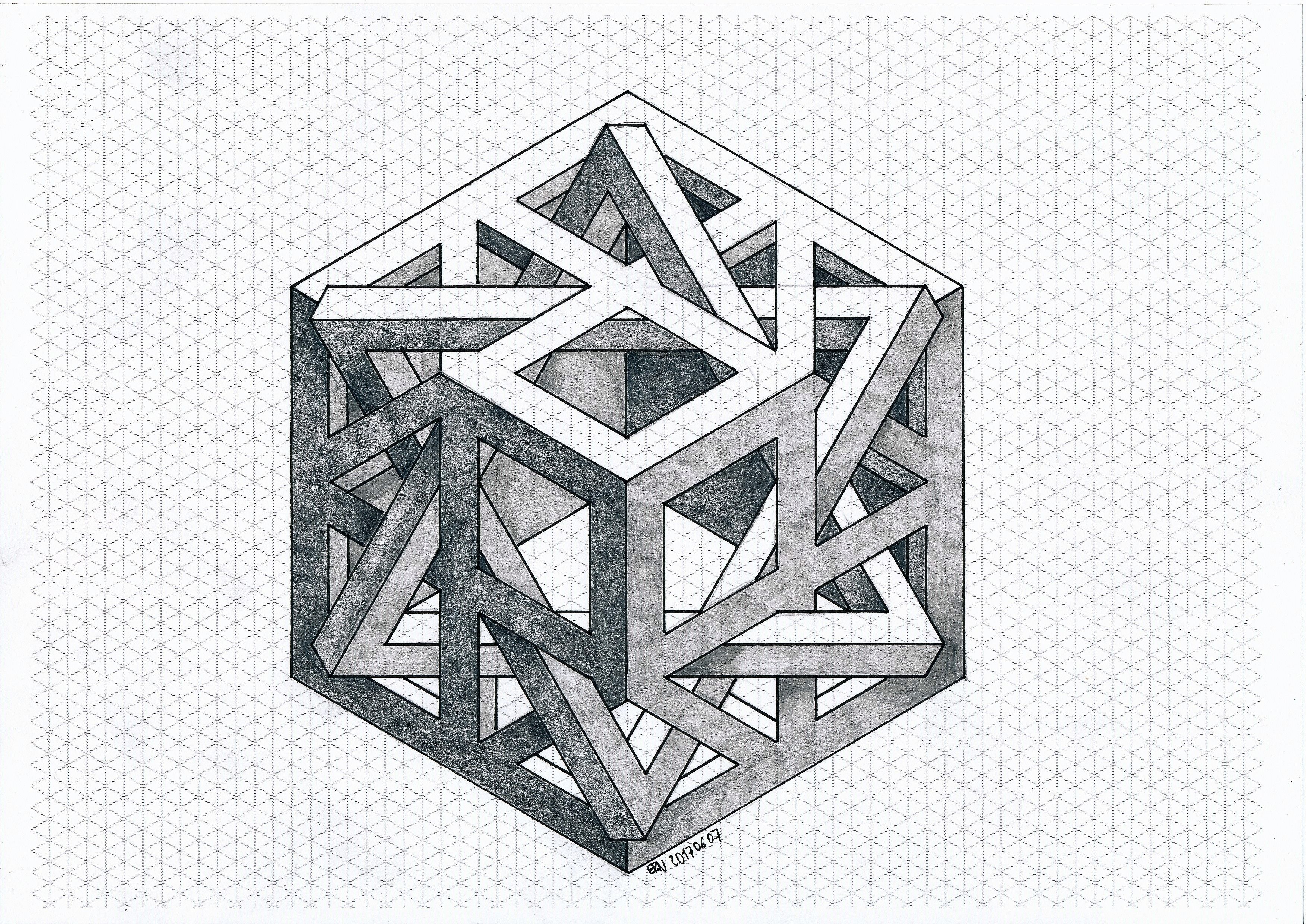 #impossible #isometric #penrose #triangle #mathart #