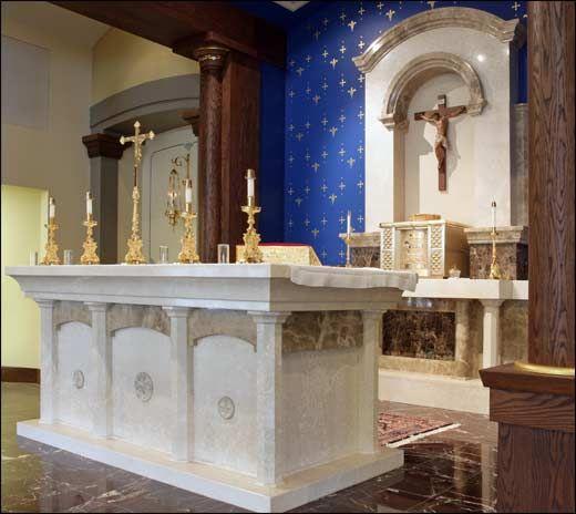 Italian Marble Chancel Furniture Holy Trinity Catholic Church Westminster Co Church Furniture Church Interior Church Design