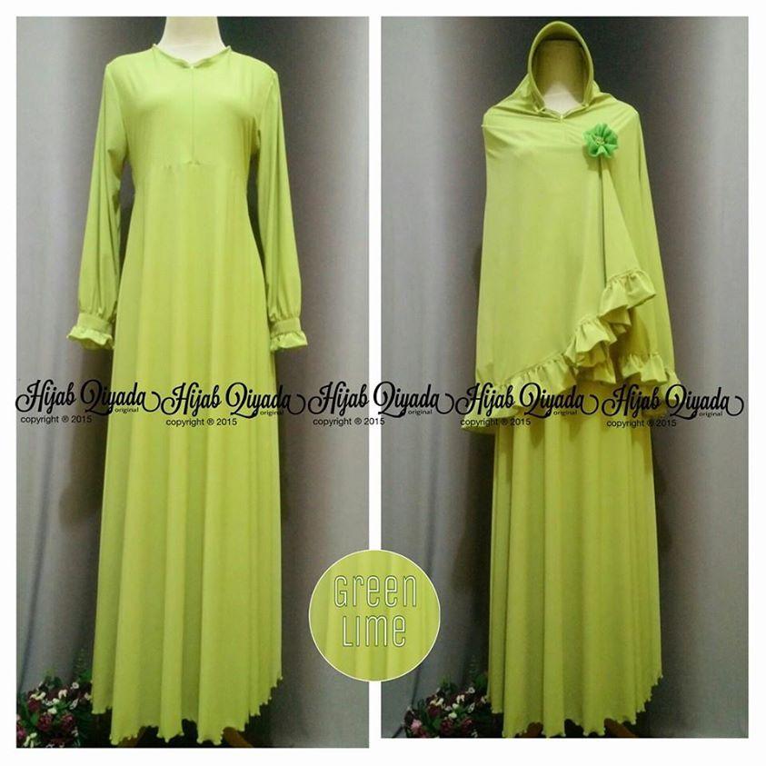Model Baju Gamis Warna Kuning Lemon