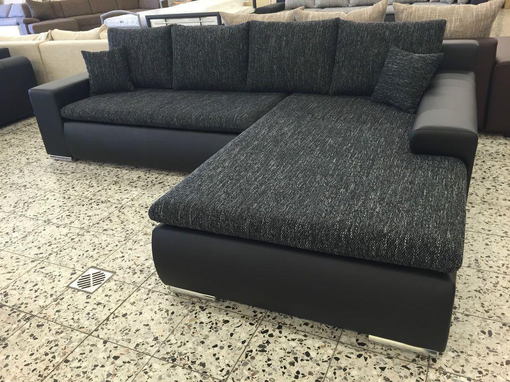 Bettsofa Schlafcouch Sofa Couch Wohnlandschaft Schwarz Couch Wohnlandschaft Sofa Couch Bettsofa