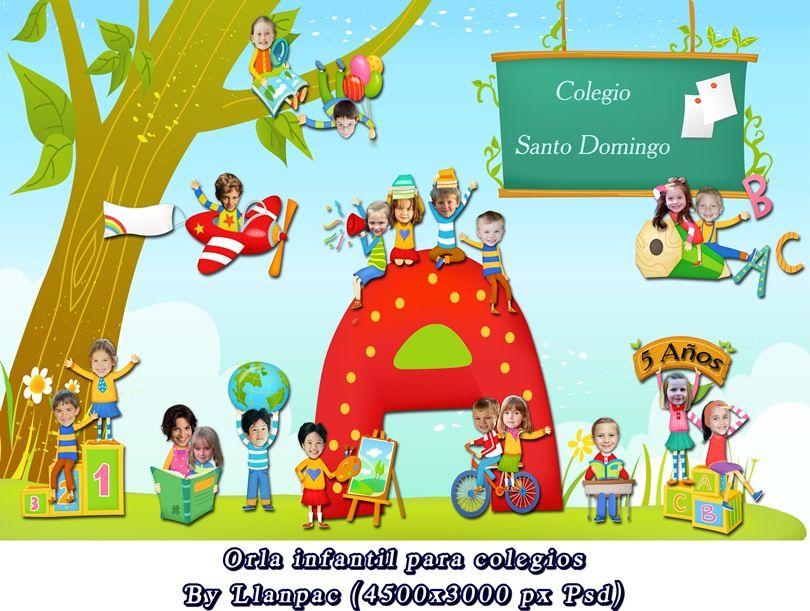 Calendarios Para Photoshop Orla Infantil Especial Para Colegios Photoshop Psd Orla Infantil Fondo Infantil Educacion Infantil