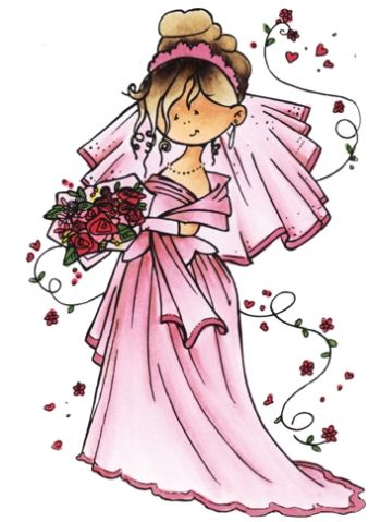 Hm9461 Clear stamp - Here comes de bride - Snoesjes stempels - Clear stamps - Hobbynu.nl