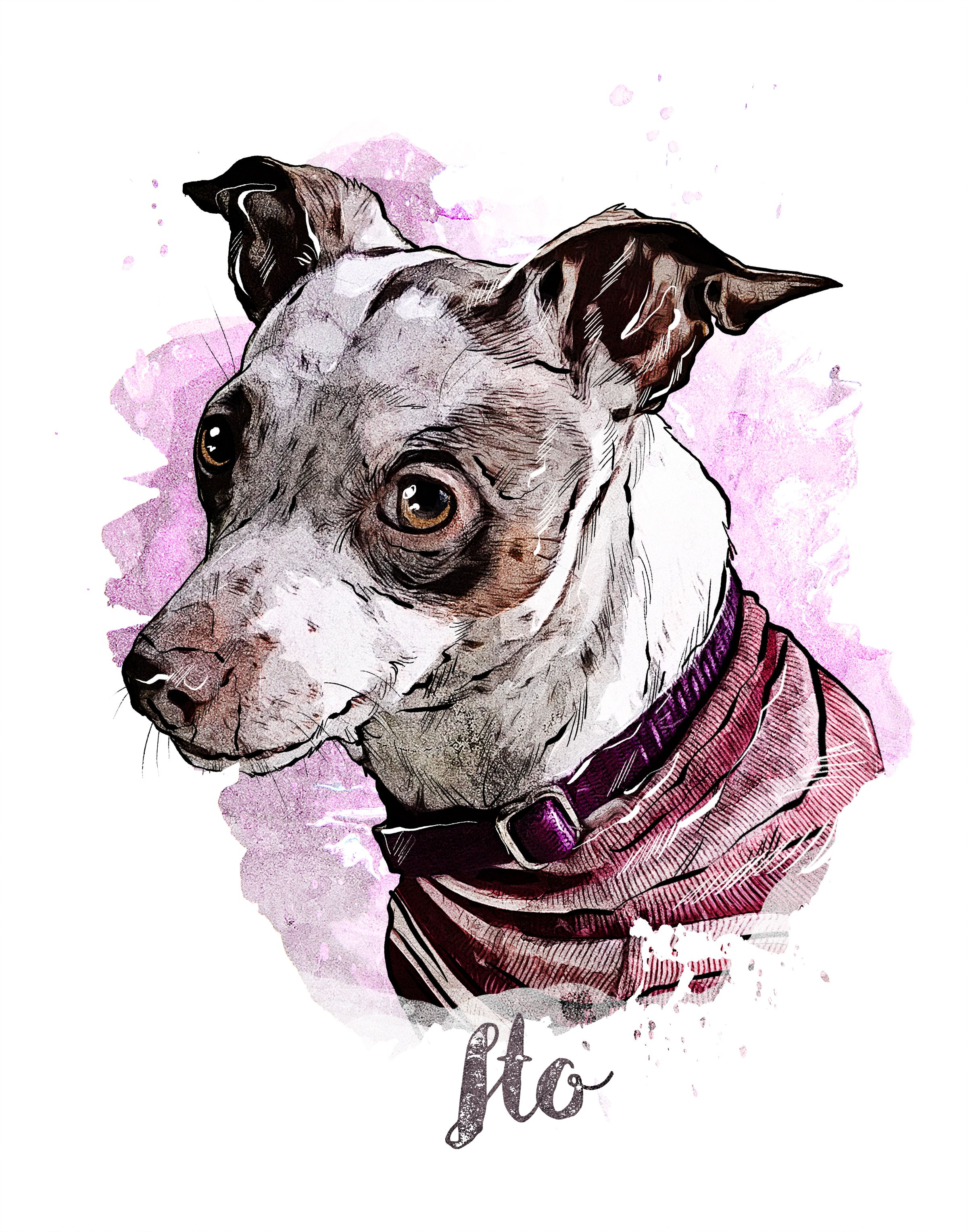Dog lover gift custom dog portrait portrait watercolor painting from your photos dog owner gift watercolor dog painting pet portrait