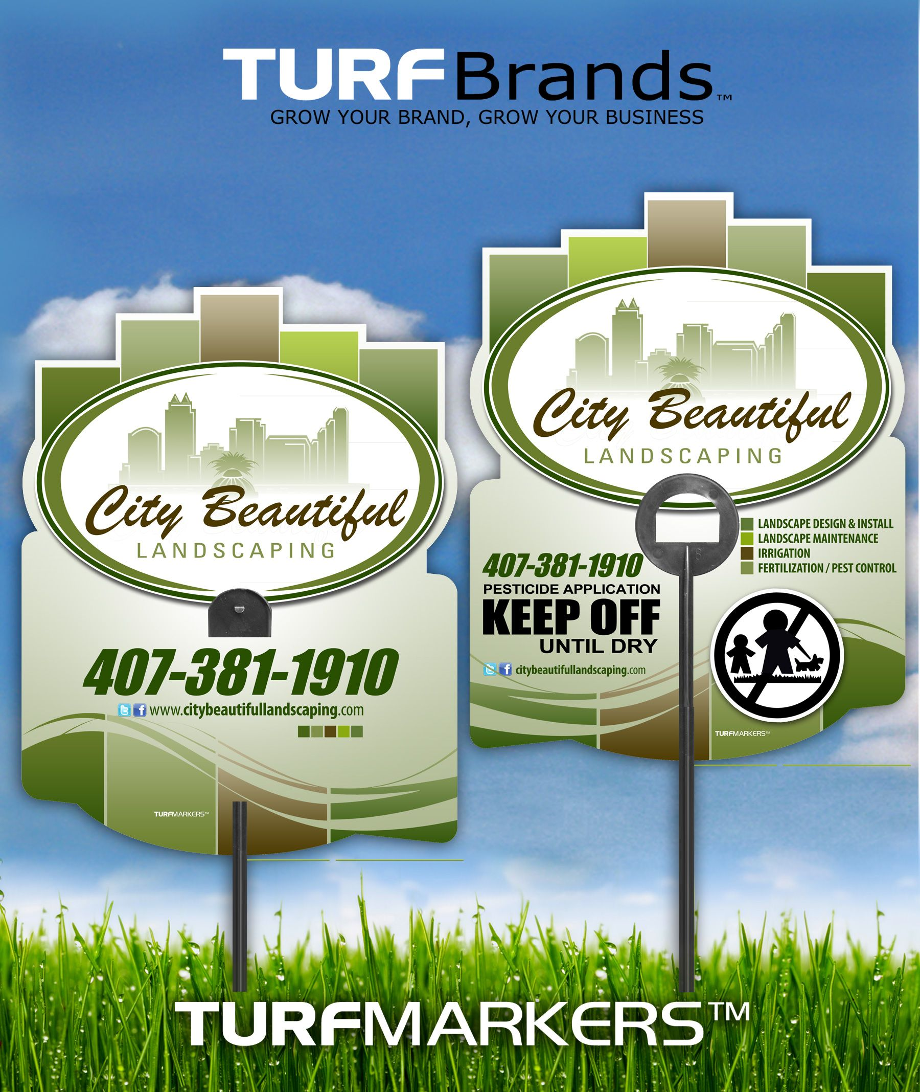 City Beautiful Lawn C Are Care Posting Sign Yard Signs Pest Control Lication