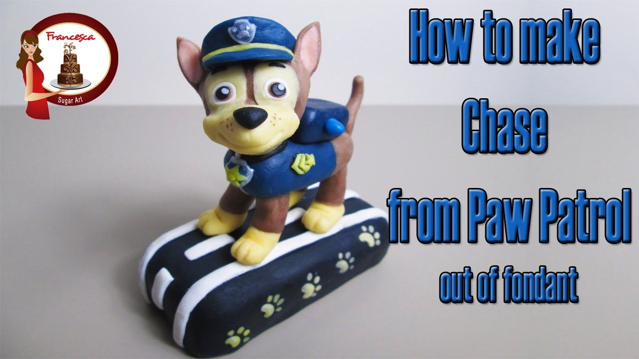 Kids Toys Action Figure: How To Make Chase From Paw Patrol Cake Topper Tutorial