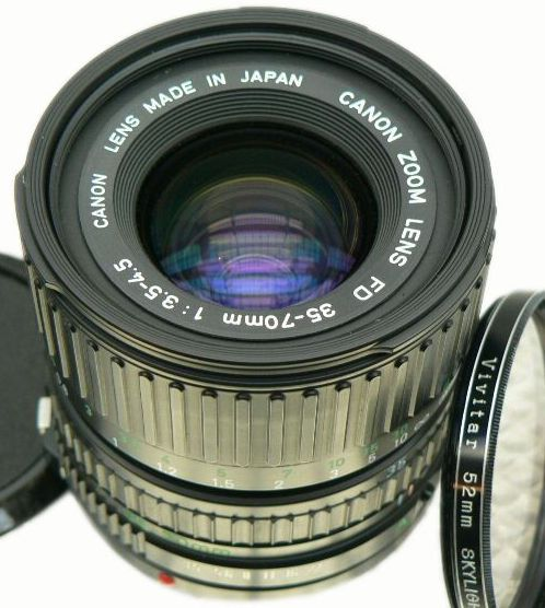 Canon Fd Zoom Lens 35 70mm F 3 5 4 5 Macro Zoom Lens Photography Bags Canon