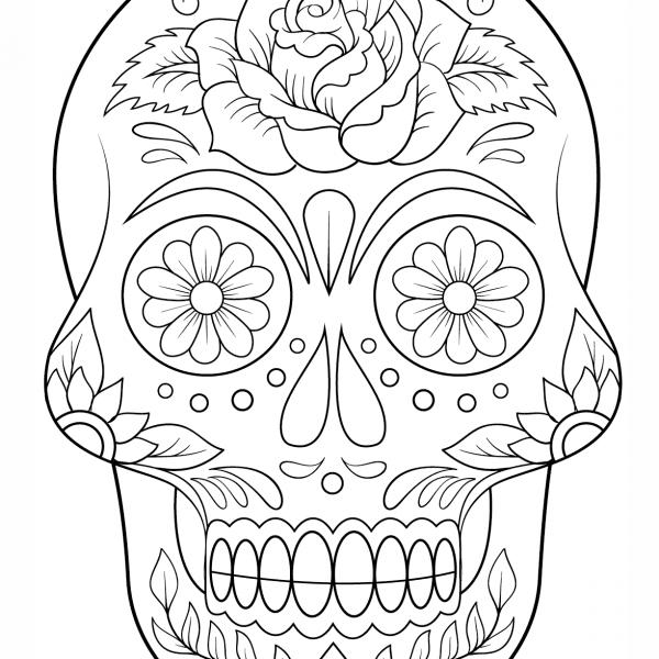 Dibujos De Calaveras Para Colorear Ideas Para Material Didáctico