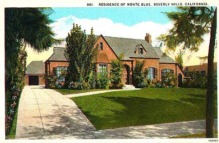 Old Movie Star Homes One Of Those Old Picture Postcards
