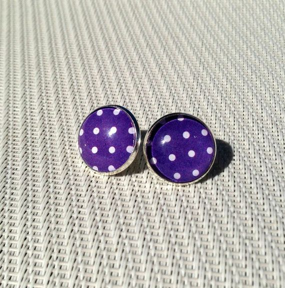 Hey, I found this really awesome Etsy listing at https://www.etsy.com/listing/164512348/sale-stud-earrings-blues-and-white-polka