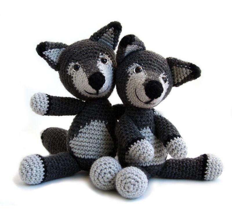Crochet Pattern: Wolf Dog Amigurumi Plush | Crochet patterns ... | 760x800