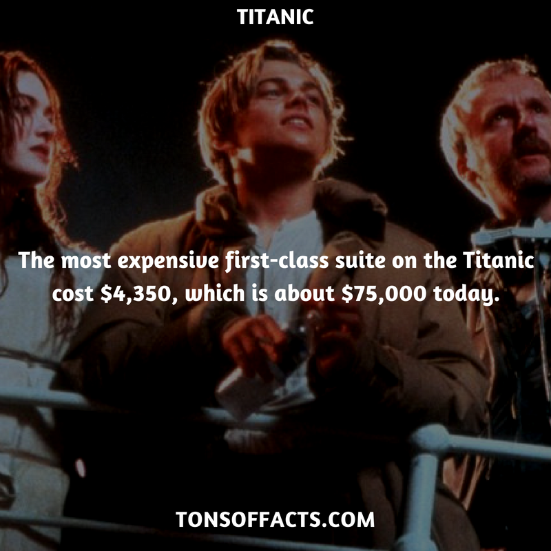 The Most Expensive First Class Suite On The Titanic Cost 4 350 Which Is About 75 000 Today Titanic Movies Titanic Movie Facts Titanic Facts Titanic Funny