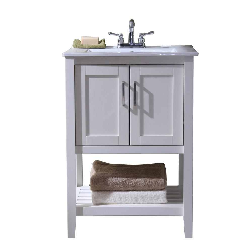 Legion Furniture 24 In Vanity With Single Sink Top In White With