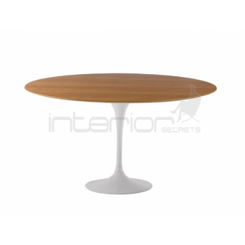 Tulip Table 120cm Eero Saarinen Replica Veneer Top Fibergl