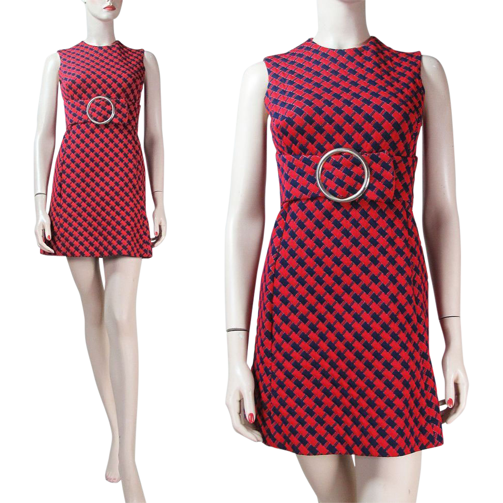 1960's Sleeveless Quilted Mini Dress