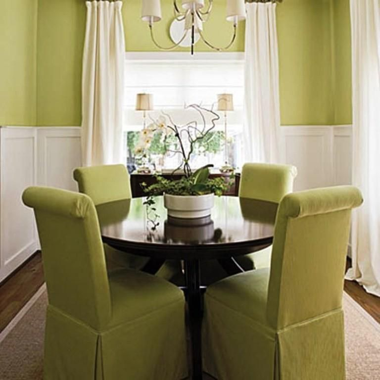 Natural Grasscloth Wallpaper In Dining Room