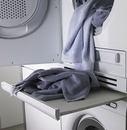 Pull Out Table Between Washer And Dryer.to Me, This Is A No