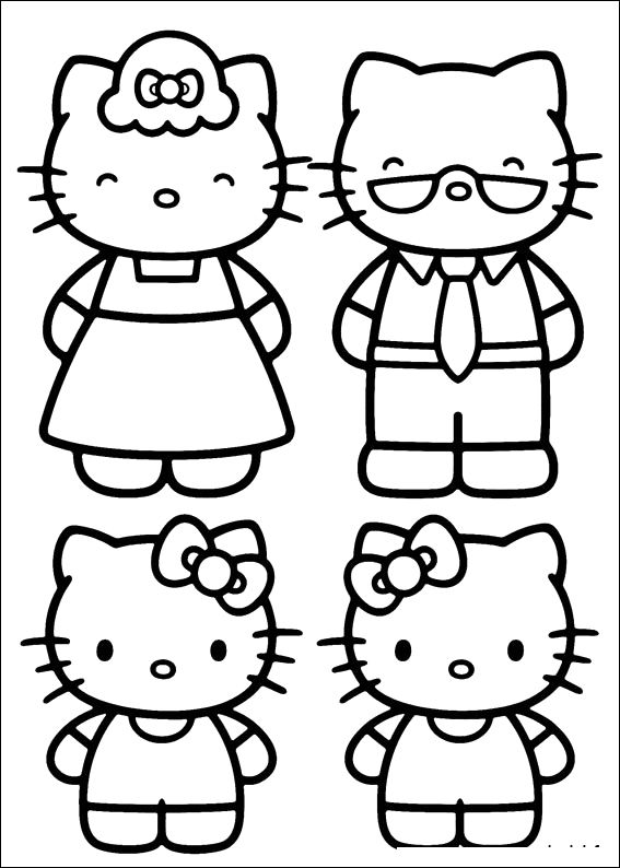 Photos Hello Kitty And Family Coloring Pages | Hello Kitty ...