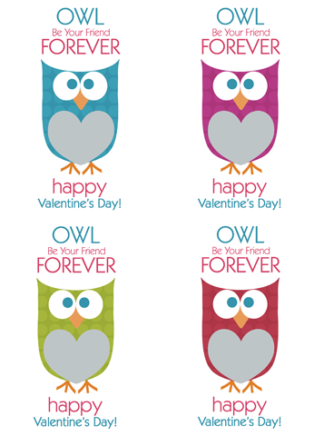 Printable Valentine Cards Owl Printable Owl And Cards