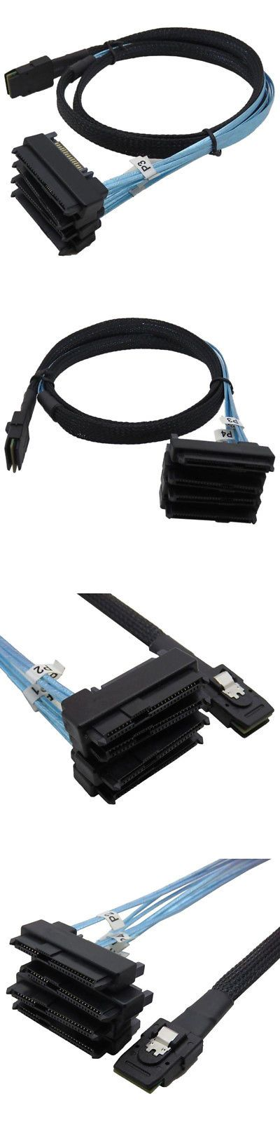 Drive Cables And Adapters 74941 3ft 1m Mini Sas 36p Sff 8087 To 4 Sff 8482 Connectors With Sata Power Cable Us Buy It Now Only Sff Power Cable Connectors