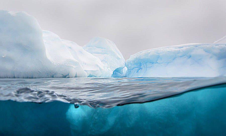 Above and Below a Glacier
