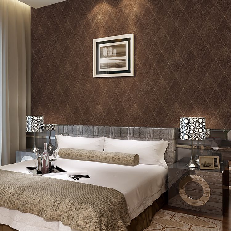 Diamond Design Elegant Pvc Wallpaper Decoration For Bedroom