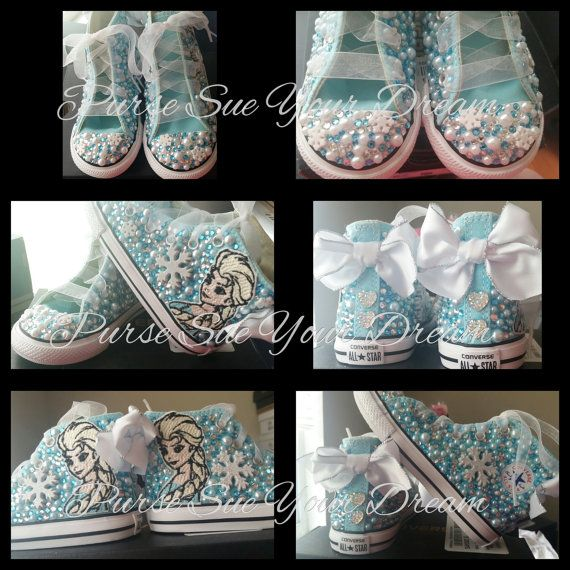 Disney Frozen Themed Custom Converse Shoes by