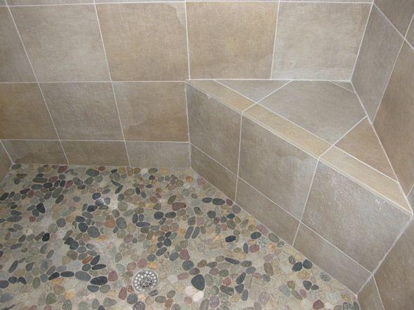 Pebble Shower Floor Tile Ideas Shower Walls And Built