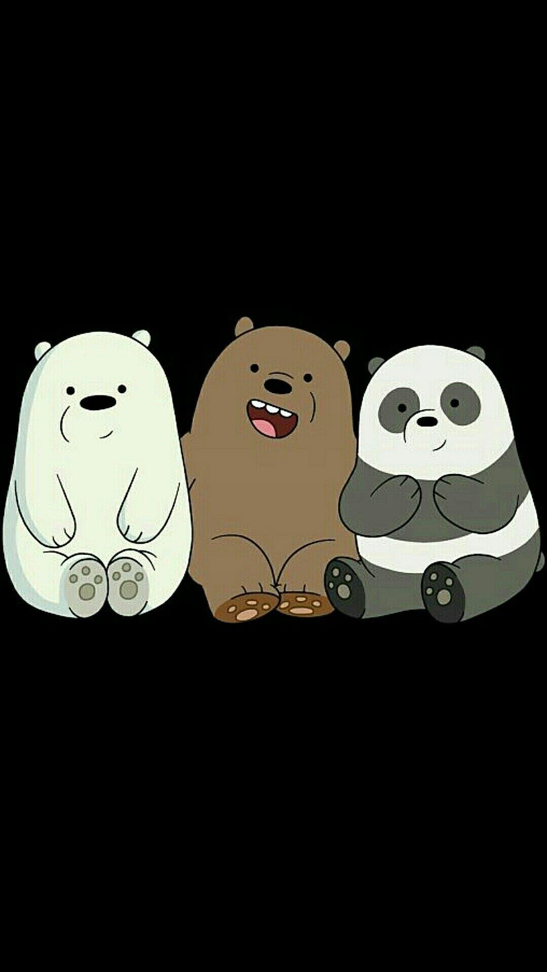 Panda We Bare Bears Wallpaper Black Background di 2020 ...