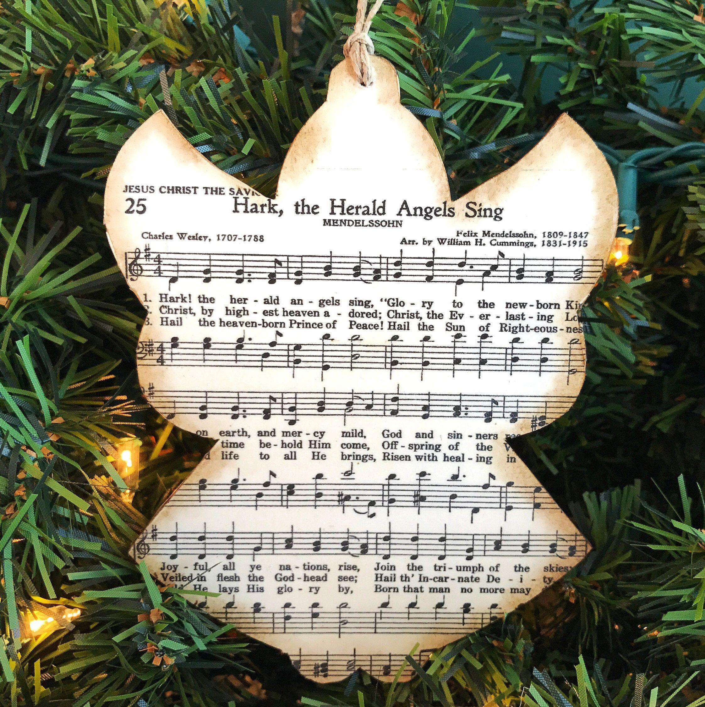 Angel Christmas Ornaments Christmas Music Ornaments Etsy Holiday Crafts Christmas Music Christmas Ornaments Christmas Ornaments