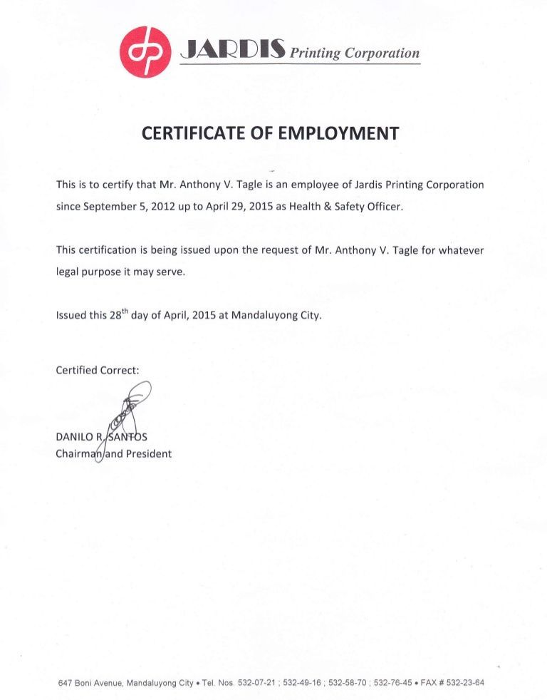 This Is To Certify That Mr Since September 5 20L2 JAeDt S