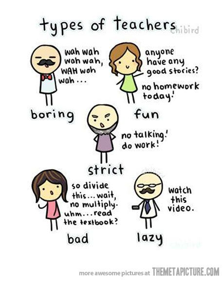 types of teachers bad teacher facts of life and teaching