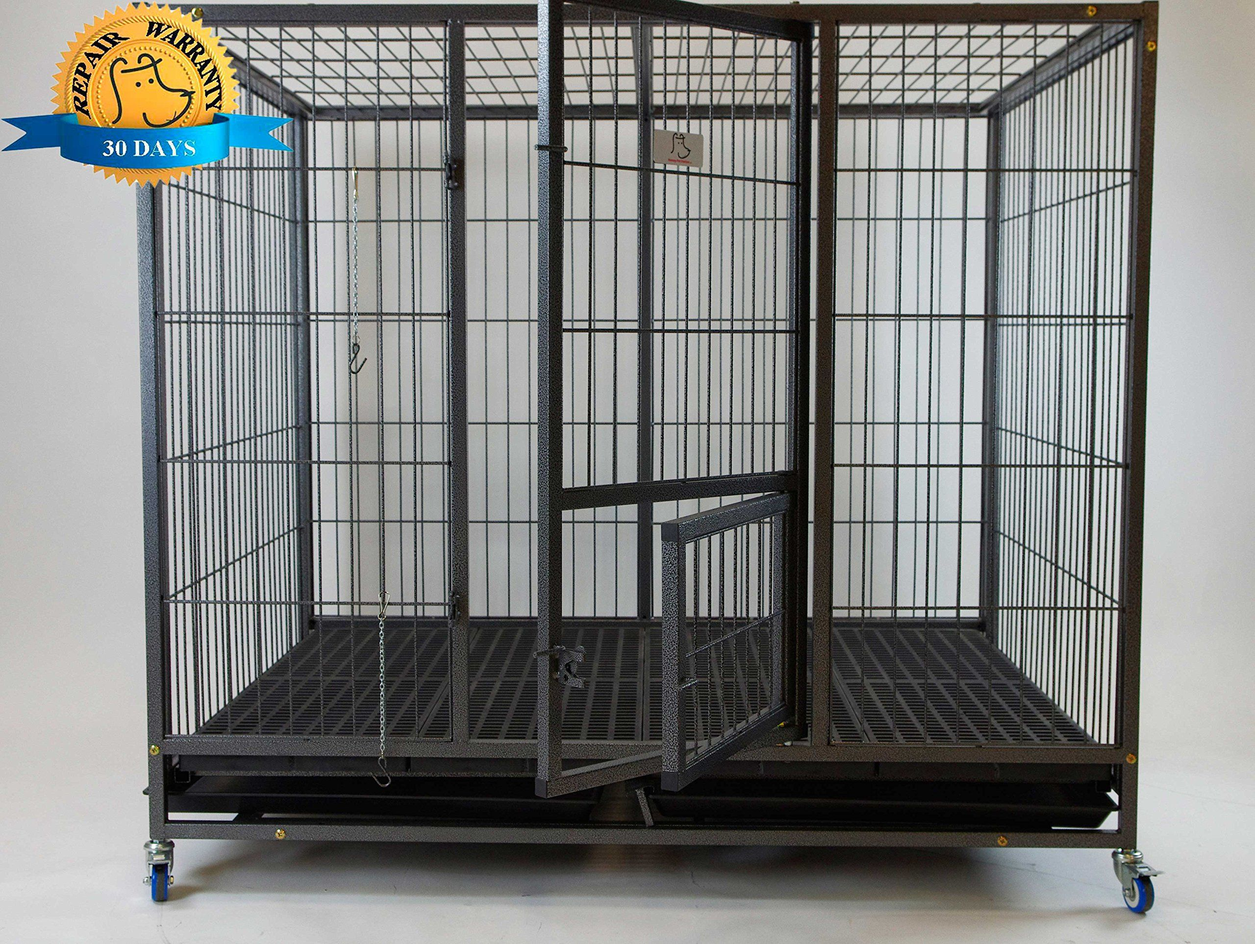 Homey Pet 49 Extra Large Heavy Duty Metal Dog Cage W Plastic Floor Grid Read More At The Image Link It Is An Affiliate Link Gross