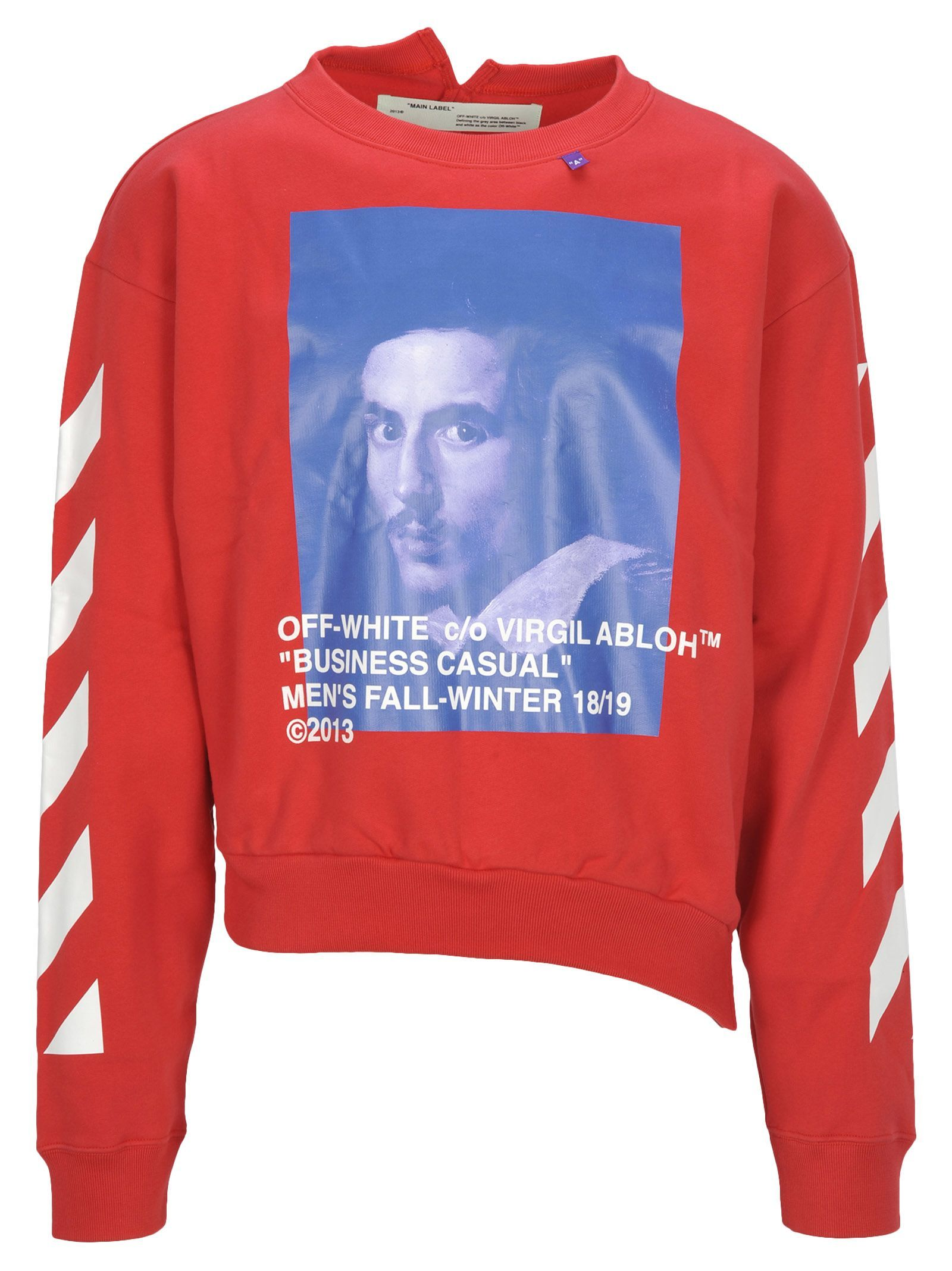 6698f53c OFF-WHITE OFF WHITE DIAG BERNINI SPLICED CREWNECK. #off-white #cloth ...