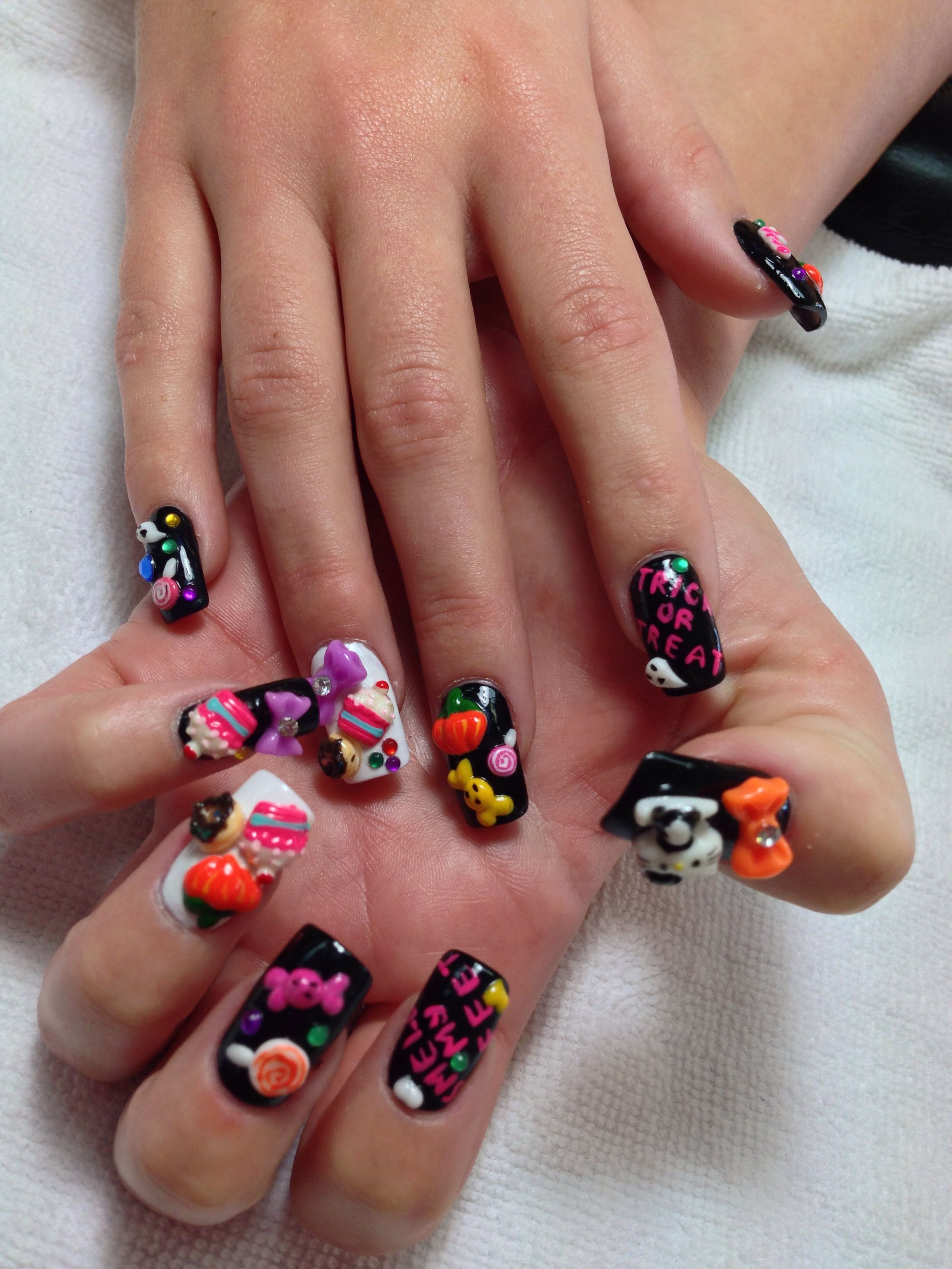 Halloween Nails - Nail Art | Diy nail art tutorial ...