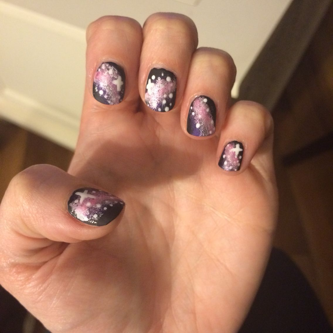 Galaxy nail design | My Own Nail Art | Pinterest | Galaxy nails ...
