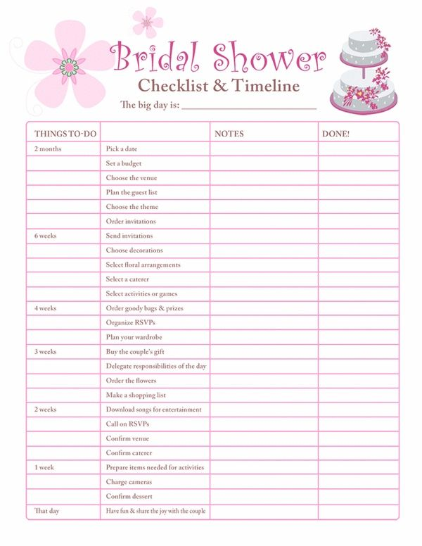 bridal shower planning checklist free printable coloring pages