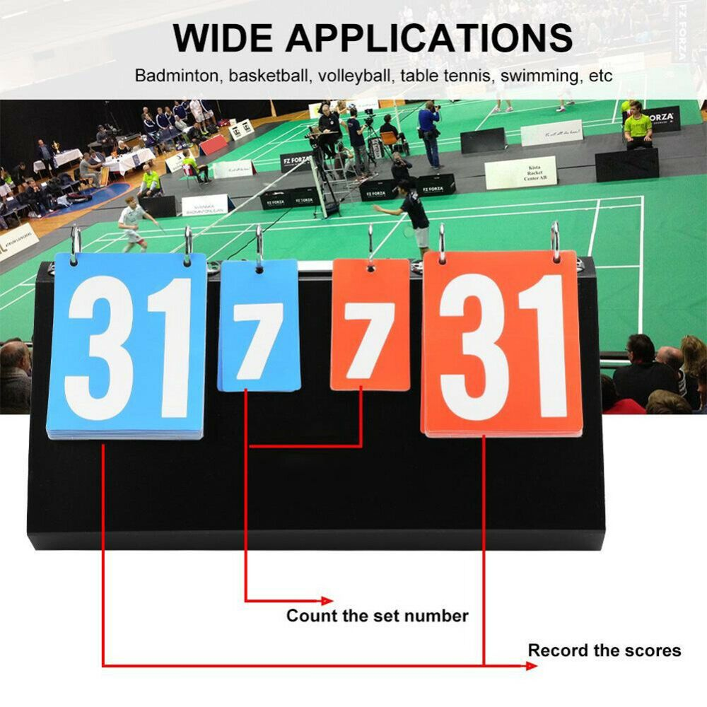 Details About Portable 4 Digit Sports Competition For Table Basketball Badminton Score Boards Table Tennis Badminton Score Sports Basketball